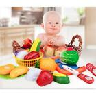 New Kids Child Pretend Role Play Kitchen Vegetable Fruit Food Toy Cutting Set LA