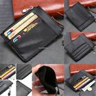 Women Men Leather Coin Purse Card Wallet Clutch Zipper Small Change Bag B20E