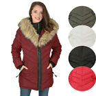 Canada Weather Gear Women's Mid Faux Down Goose Parka Coat Jacket Winter