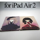 Faux Leather Cartoon Back Cover Smart Flip Stand Slim Case For iPad Air 2 II