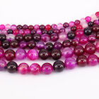 1Bunch Natural Rose Red Striped Agate Round Gemstone Loose Spacer Beads 4-12MM