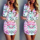 New Women's Evening Cocktail Beach Casual Summer Mini Floral Party Short Dress