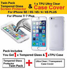 Hybrid Full 360&deg; Shockproof Case Tempered Glass Cover For Apple iPhone 8 7 6s SE <br/> For iPhone 5,5s,SE,6,6s,6 Plus,6s Plus,7,7 Plus,8,8+,X