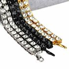 Brand New Women 18K Gold Plated White Zircon Alloy Chain Necklace 5mm Width