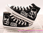 Hand Made Star Wars Stormtrooper Canvas Shoes Unisex Casual High Ankle Sneakers