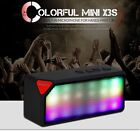 Portable Mini Wireless Bluetooth Stereo Speaker Colorful LED Pulse Super Bass
