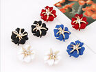 2016 New Fashion Vintage Cute Flower Starfish Stud Earrings Unique Charm women's