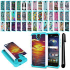 For ZTE Grand X 3 X3 Z959 Warp 7 N9519 Hybrid Bumper Shock Proof Case Cover +Pen