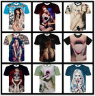 Fashion New Mens Womens 3D Sexy Girls Print Casual Short Sleeve Tee Tops T-Shirt