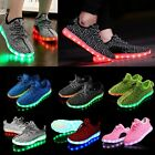 Unisex 7 LED Light Lace Up Luminous Shoes Sportswear Sneaker Luminous Kids Shoes