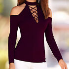Sexy Women Long Sleeve Off Shoulder Casual Slim Fit Top T-Shirt Fashion Blouse