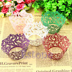 12x Butterfly Pattern Hollow Out Cake Paper Wrapper Cupcake Wedding Party Decor