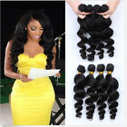 """12""""-30""""Brazilian Remy Loose Body Wave Wavy Curly Human Hair Extensions 100g New"""