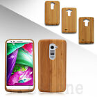 Genuine Natural Case Wood Bamboo Wooden Rugged Skin Case Cover For LG G2 G4 G3