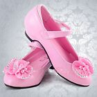 Wedding Flower Girl Bridesmaid Dress Shoes Size UK 9-2 (Older Girl) GS005