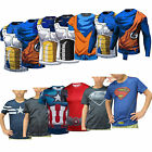 Kids Dragon Ball Z Goku Marvel Superheros Short T-Shirts Vegeta Jerseys