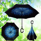 Modern Double Layer C-Handle Umbrella Upside Down Reverse Inside-Out 13Colors