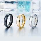 316L Stainless Steel Tri-color New Style Men  Women Ring CR319 Width 6mm Sz 7-13