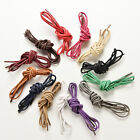 New Colourful 90cm Cotton Waxed Round Cord String Dress Shoe Laces 1 Pair HF