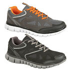 Mens  Gents New DEK Orleans Lace Up Black Leather Casual Wide Fit Trainers 6-14