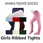 Queen Tex Girls Ribbed Warmer Tights Pantyhose Hosiery Stocking Size S M L XL