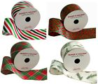 """NEW Ribbon CHOOSE Wired Edge Red Green 25' Feet 2 1/2"""" Wide Christmas Holiday"""