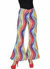 "Ladies 70's Flares - ""Rainbow Wave"" Design"