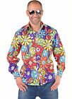 "Gents 70's Shirt  - ""Hippy Smile"" design   Small - XXL"