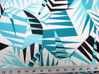 Payless Fabric Printed Lycra Spandex Stretch Mint Bamboo leaves