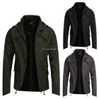 Men Stand Collar Zippe Pocket slim casual sport Outwear Trench wind coat parka