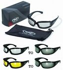 Stray Cat Foam Padded Riding Sun Glasses-TRANSITION PHOTOCHROMIC LENS *Choice*