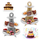 Cake Cupcake Stand Party Decorations Table Fancy Gold Silver Muffin Decorating