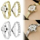 Fashion Women's Lady's Bracelet Stainless Steel Crystal Dial Quartz Wrist Watch