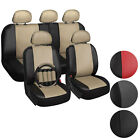 PU Leather Car Seat Covers Steering Wheel/Belt Pad/Head Rest Choose Color