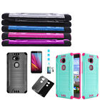 Phone Case For Huawei Sensa H710VL H715 Brush Dual-Layered Cover Tempered Glass