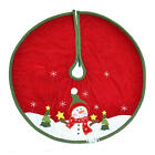 """Handcrafted 22"""" Diameter Christmas Top Quality Tree Skirt  Snowman Santa Clause"""