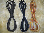 "Pair (2) LEATHER Boot Shoe LACES Rawhide Lacing 72"" (6ft) Black Tan Dark Brown"