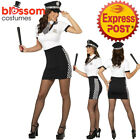 CA166 Ladies Police Cops Officer Uniform Military FBI Fancy Dress Costume Outfit