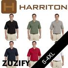 Harriton Tipped Easy Blend Polo Shirt. M270