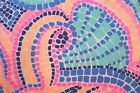 New Lilly Pulitzer EDNA DRESS M L Multi Tile Wave Cotton Jersey A-Line Pima  NWT