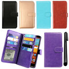 For LG G Stylo LS770 G4 Note Leather Magnetic Card Holder Wallet Cover Case +Pen