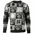Forever Collectibles NBA Men's Brooklyn Nets 2016 Patches Ugly Crew Neck Sweater on eBay