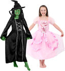 GIRLS GREEN WICKED OR NICE WITCH BOOK FILM CHARACTER CHILDS FANCY DRESS COSTUME