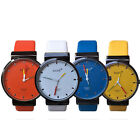 Fashion Unisex Couples Leather Stainless Steel  Analog Quartz Casual Wrist Watch