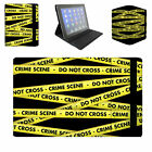 Crime Scene Tape Flip Folio Case - Fits Ipad Air Mini Samsung Galaxy