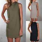 Womens Long T-Shirt Short Mini Dress Casual Party Cocktail Holiday T Shirt Tops