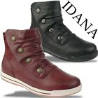 SOFTWAVES Fashion by IDANA kurzer Stiefel trendy in 2 Farben Gr.37-42
