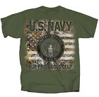 Realtree Navy Seal with Flag Adult Short Sleeve T-shirt