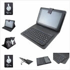 "2 in1 Wireless Bluetooth Keyboard PU Leather Case Cover for 9.7~10.5"" Tablets"