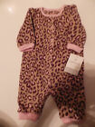 NWT~Carters Infant Girls 1 Piece Outfit, Tan, Brown and Pink, Size 3 months